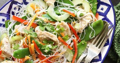 Healthy Pregnancy Recipes: Thai Chicken-Noodle Salad