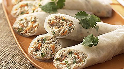 Tuna Rice-Paper Rolls