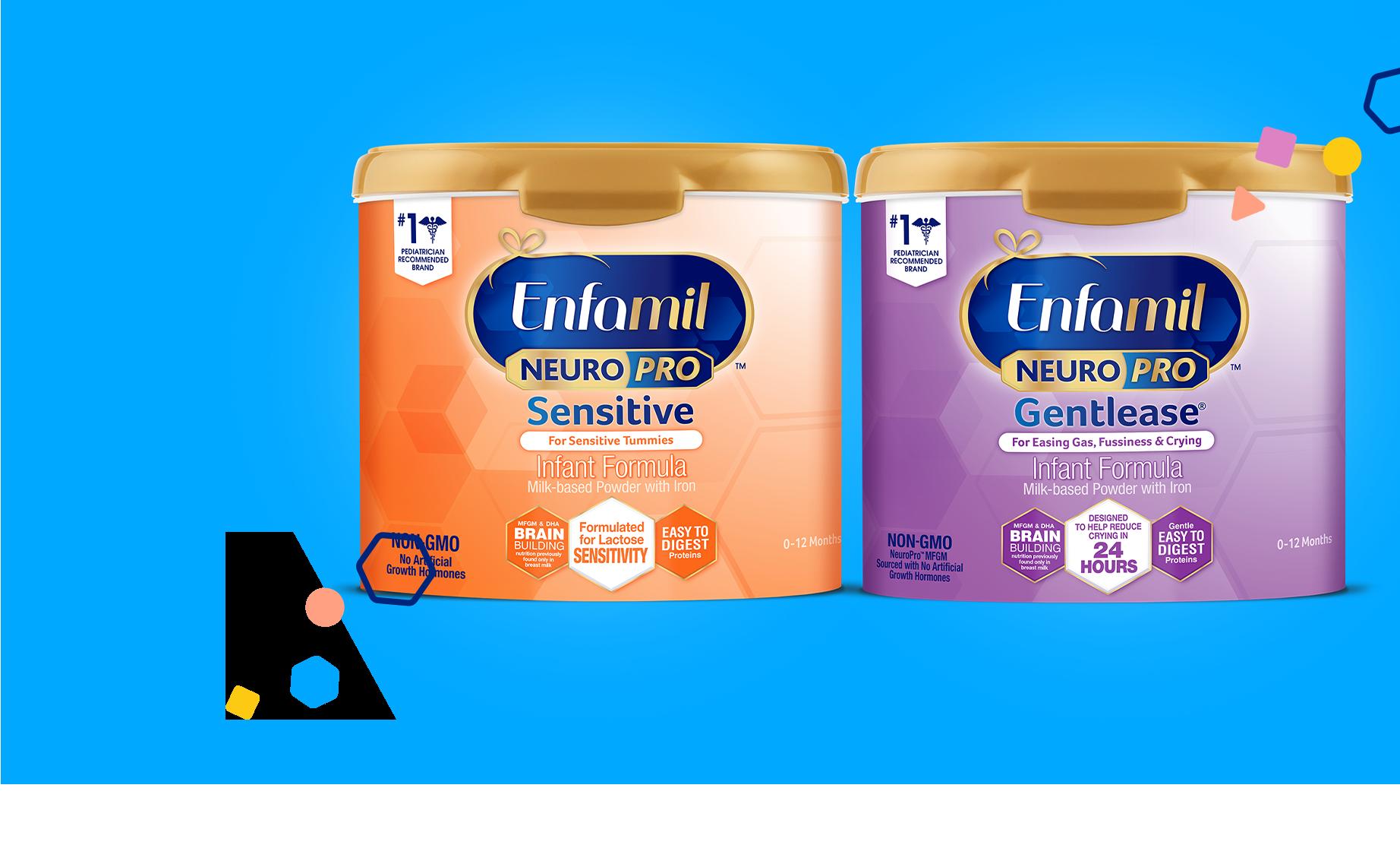 Enfamil Sensitive vs. Enfamil Gentlease Formulas