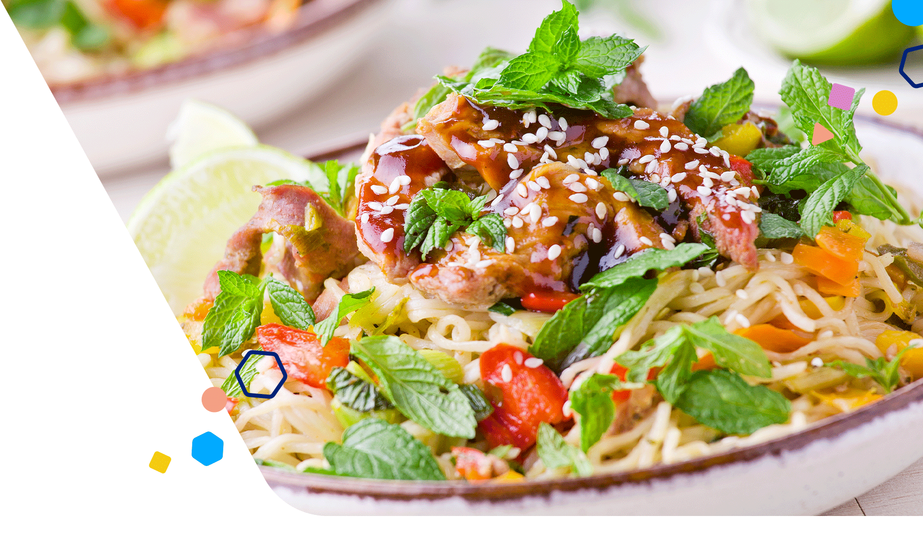 Healthy Pregnancy Recipes Thai Chicken Noodle Salad