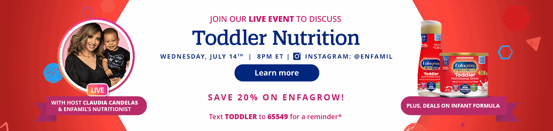 Enfagrow Live Event Promotional Banner