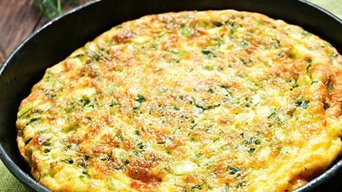 Frittata with Ham and Green Pepper