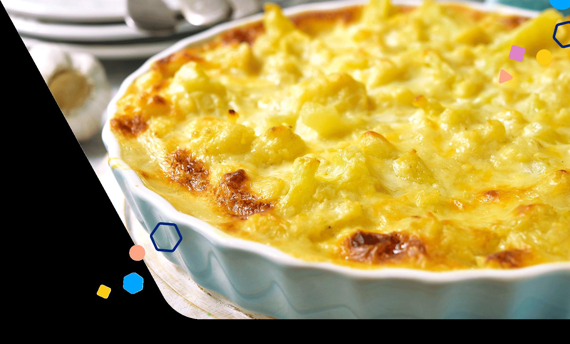 Cauliflower and Macaroni and Cheese Bake