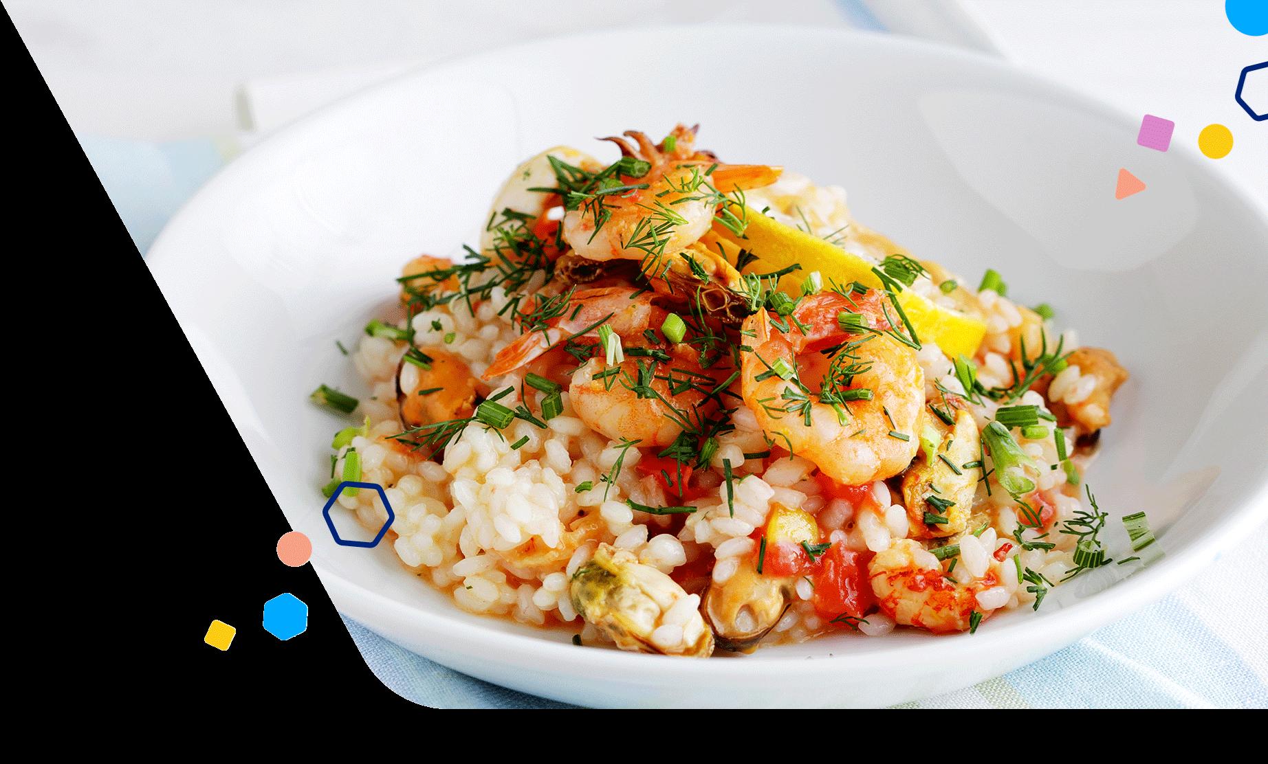 Risotto Shrimp Peas and Fennel