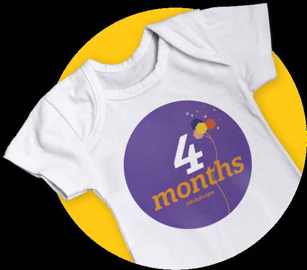 4 Month Badge T Shirt